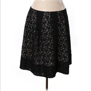 Talbots Black Lace Skirt
